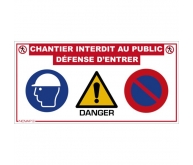 Panneau de chantier multi-informations